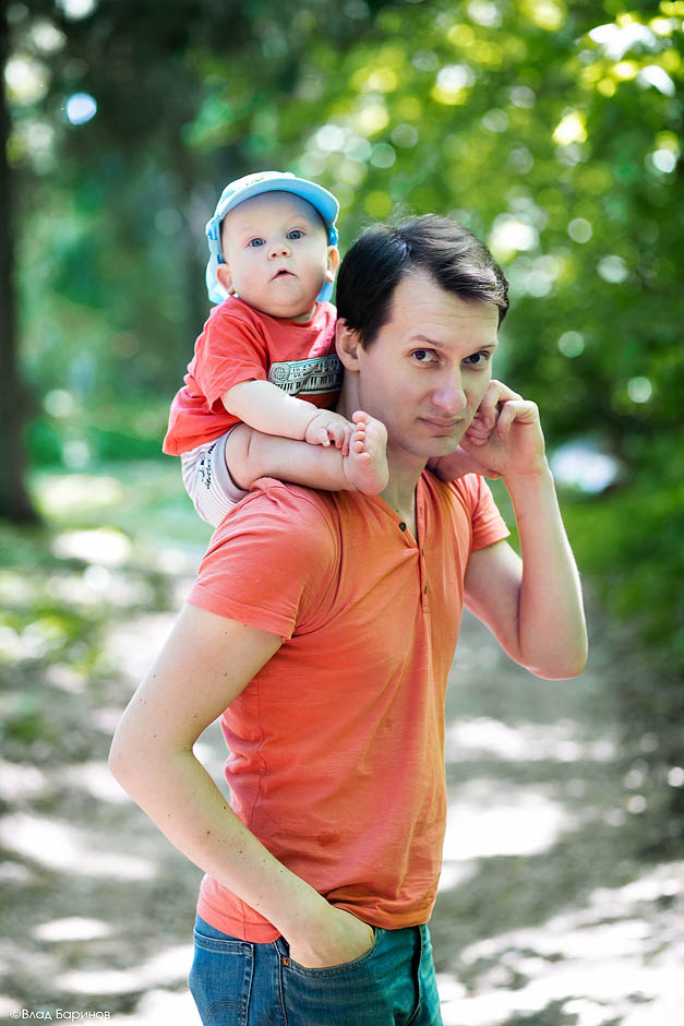 Семейная прогулка в ботаническом саду