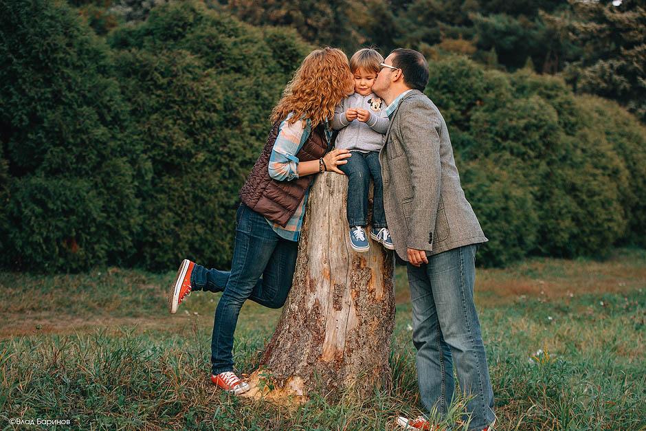 Семейная фотосъемка в ботаническом саду