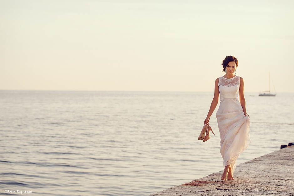 невеста на пирсе